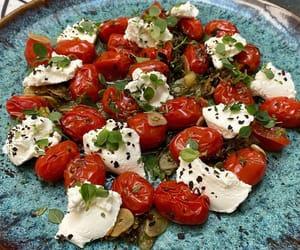 garlic, herb, and salad image
