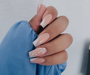 nails, Nude, and white image