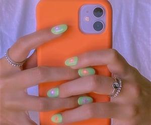 iphone, cute nails, and orenji image