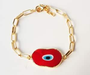 etsy, evil eye bracelet, and gold chain bracelet image