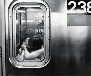 aesthetic, black and white, and couple image