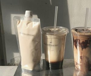 beige, coffee, and iced coffee image