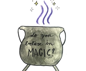 cauldron, Halloween, and drawing image