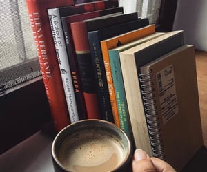 books, coffee, and notes image
