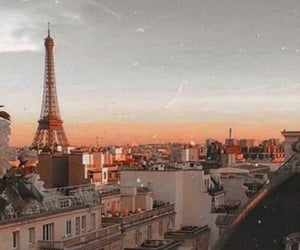 paris, sky, and sunset image