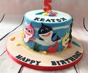 birthday, fish, and baby shark image