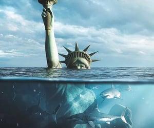 art, surreal, and sharks image
