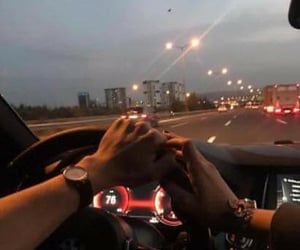 car, couple, and moment image
