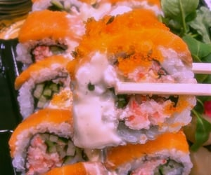 delicious food, sushi, and 寿司 image