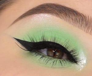 beautiful eyes, eyelid, and make up image
