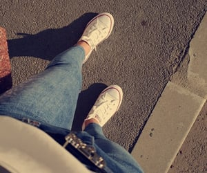all star, converse, and denim image