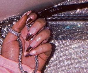 diamond, chanel, and nails image