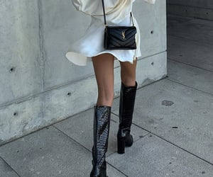 knee high boots, cute summer outfit, and fashion style mode image