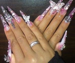 nails, aesthetic, and gyaru image