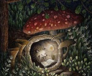 hedgehog, illustration, and book image