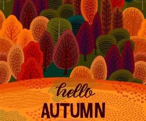 art, autumn, and background image