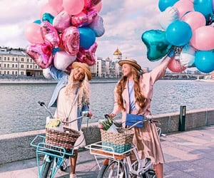 balloons, besties, and chill image