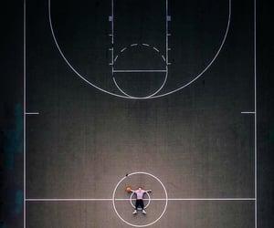 Basketball and court image