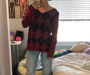 argyle, outfit, and trendy image