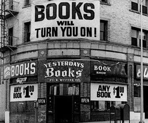 book, black and white, and vintage image