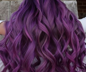 wavy, color hair, and hairstyle image