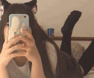 aesthetic, catgirl, and gif image