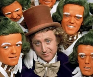 charlie and the chocolate factory, oompa loompa, and Willy Wonka image