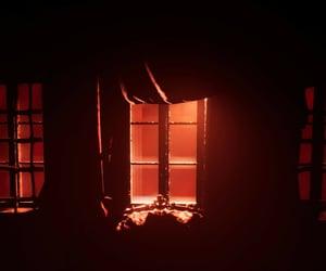 black, shadowed, and window image