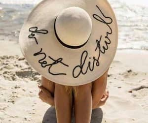 summer, beach, and hat image