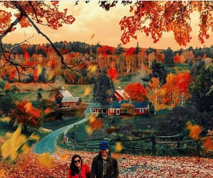 autumn, couples, and home image