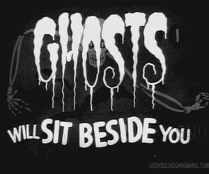ghost, black, and Halloween image