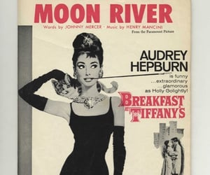 aesthetic, audrey hepburn, and moon river image