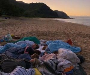 beach, night, and hangover image