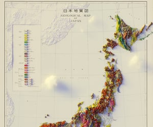 geography, geology, and japan image
