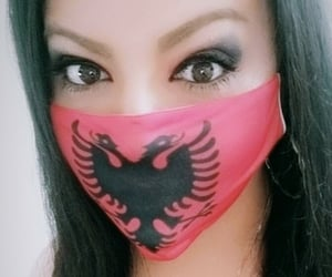 albanian, facemask, and shqip image