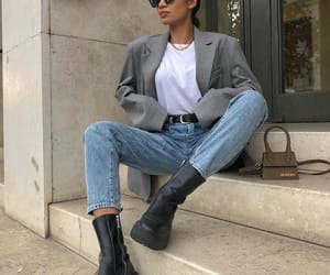 ankle boots, blogger, and boots image