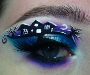 blend, halloween makeup, and colorful image