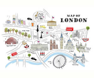 cute, map, and landmarks image