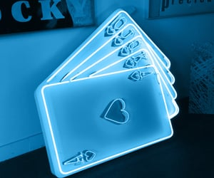 cards, light, and neon image