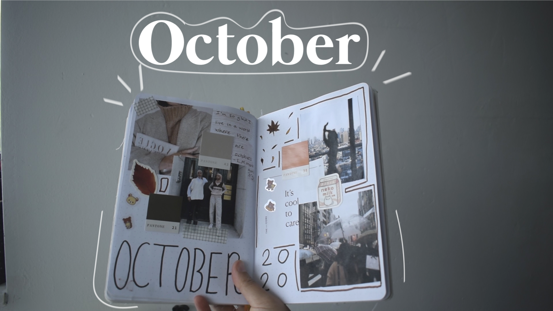 aesthetic, october, and student image
