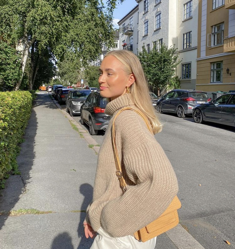 knitwear, everyday look, and turtleneck sweater image