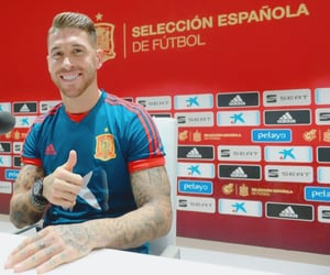 football, press conference, and sergio ramos image