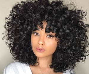 black hair, curly hair, and inspiration image