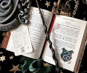 slytherin, harry potter, and hogwarts image
