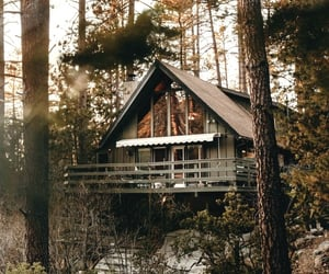 adventure, cabin, and a-frame image