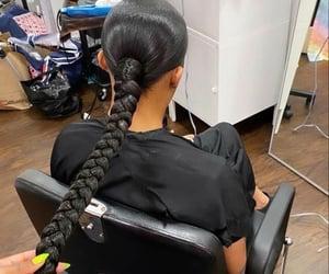 black, hair, and plait image
