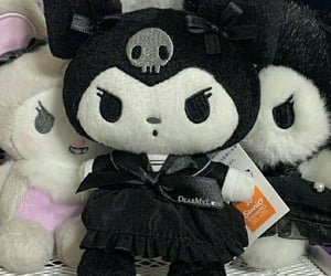 goth, kuromi, and my melody image