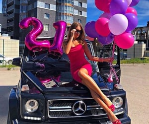 luxury, car, and balloons image