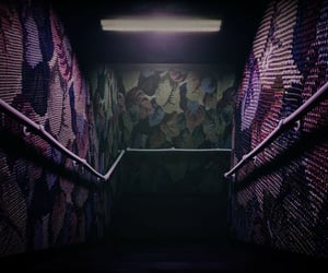 dark, stairs, and stairwell image
