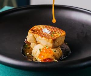 pasta, spaghetti, and foie gras image